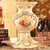 欧式落地客厅奢华大花瓶欧式花瓶摆件客厅电视柜干花插花器大号落地陶瓷家居装饰品