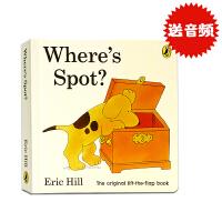 【包邮】进口英文原版 Where's Spot? 小玻在哪里 where is spot绘本纸板书 翻翻书 儿童低幼启