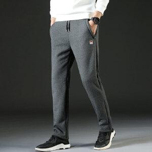战地吉普AFS JEEP加绒运动裤2018秋冬新款户外健身休闲裤羊羔绒加厚保暖宽松跑步长裤子