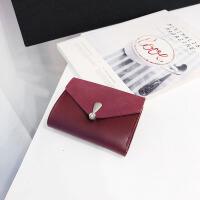 女士钱包2018新款韩版短款折叠小钱夹磨砂皮夹短款零钱包现货批发