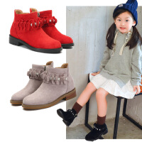 女童靴子短靴2017春秋冬季新款小女孩公主单靴韩版儿童马丁靴童鞋
