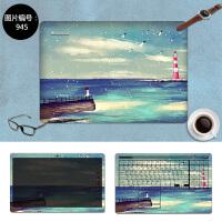 联想ideapad300 310S笔记本电脑贴膜14 15寸华硕k550外壳保护贴纸 SC-945 三面+键盘贴