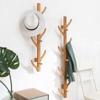 淘之良品墙上简易衣帽架壁挂挂衣架子实木卧室落地衣服收纳置物家用简约现代