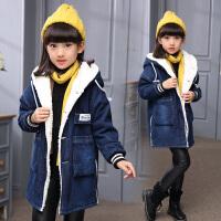 牛仔外套大童女装冬装小学生女孩12-15岁