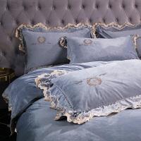 珊瑚绒四件套加厚保暖水晶绒欧式床单被套床上双面绒法兰绒
