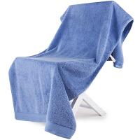 [当当自营]三利 A类加厚长绒棉 刚蓝 缎边大浴巾 纯棉吸水 柔软舒适 带挂绳 婴儿可用