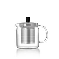 尚明居家高硼硅加厚耐纯手工高温玻璃茶壶 过滤不锈钢泡茶壶红茶茶具花茶壶泡茶器 S042A