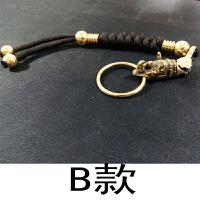 黄铜手工犀牛头钥匙扣幸运汽车摩托车犀利的人生挂件吊坠旺财
