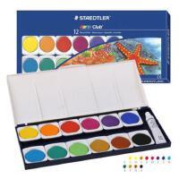 STAEDTLER施德楼 888 12色固体水溶水彩颜料盒套装