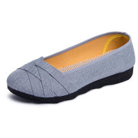 女士老北京布鞋妈妈鞋春季2019新款大码女帆布鞋子41-43夏季女鞋 灰色 单鞋2062灰色z 35 【防滑耐磨】