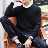 男士毛衣2017新款韩版修身型潮流加绒加厚冬季青年针织衫长袖线衣