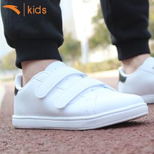 安踏男童板鞋潮中大童小白鞋学生魔术贴童鞋儿童休闲鞋31714800