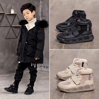 男童棉鞋儿童运动鞋加绒女童冬鞋棉鞋