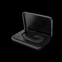 三星蓝牙耳机迷你超小无线骨传导挂耳式S9 S8 Note9 A9 S7 S6通用跑步运动开车无痛不入 (带充电舱) 官
