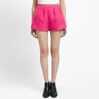 【1件3折到手价:10.5】美特斯邦威女装钉珠休闲短裤