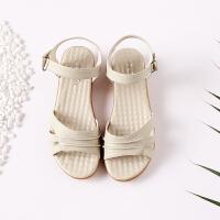 夏季凉鞋女软底平底妈妈凉鞋平跟大码4143中老年女式凉鞋