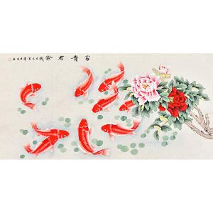 当代职业画家  晓明富贵有余gh06143