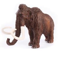 史前生物剑齿虎恐狼矛尾鱼猛犸象邓氏鱼模型儿童仿真实心动物玩具