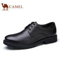 camel骆驼男鞋新品皮鞋商务休闲耐磨真皮系带皮鞋子男
