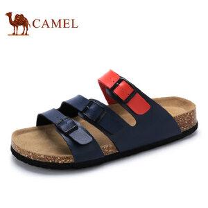 camel 骆驼男鞋  时尚百搭春夏男士拖鞋男士休闲鞋一字拖男鞋