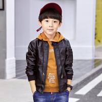 童装男童皮衣春秋外套秋装儿童中大童小孩潮衣皮夹克