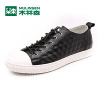 木林森男鞋 新款日常休闲皮质板鞋 韩版简约时尚休闲鞋05177320