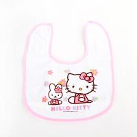 Hello Kitty凯蒂猫棉围兜 新生儿口水巾 宝宝食饭兜 围嘴