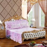 欧式床罩纯棉无床尾床裙棉两面有档板床用 1.5 1.8 1.8*2.2 2米