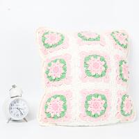 全织时代家居手钩枕套成品小清新手工双面纯棉毛线编织靠垫抱枕套