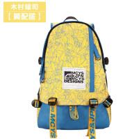 2018新款木村耀司新款双肩包女学生书包学院风背包韩版潮帆布电脑包旅行包