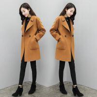 小个子毛呢外套女中长款韩版2018新款呢大衣秋冬流行宽松显瘦加厚