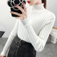 半高领毛衣打底衫女秋冬新款韩版加绒修身百搭长袖套头纯色针织衫