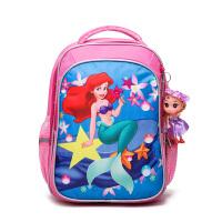 小马宝莉书包儿童苏菲亚公主小学生-年级幼儿园岁女孩双肩背包 美人鱼(-年级 )