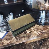 女式钱包2018新款韩版磨砂长款折叠钱包手拿包百搭零钱夹现货批发
