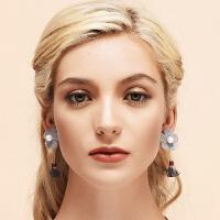 无耳洞耳夹女气质耳钉长款耳坠网红耳环个性简约冷淡风
