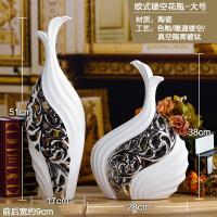 电视柜摆件落地陶瓷花瓶欧式客厅瓷器工艺品博古架古董架家居装饰SN5656