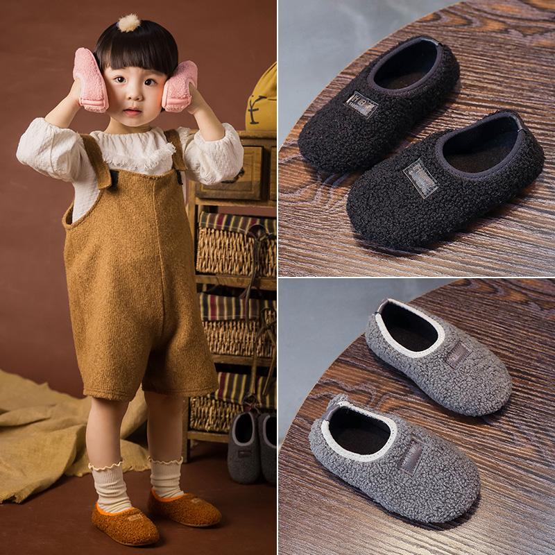 儿童拖鞋秋季穿男童室内宝宝软底薄款小童鞋子