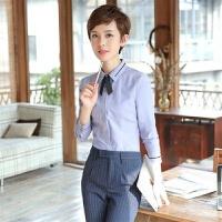 秋冬时尚气质职业衬衫女长袖白衬衣修身显瘦正装工作服打底衫