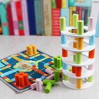 叠叠乐积木抽叠叠高层层叠益智儿童玩具桌面游戏飞行棋