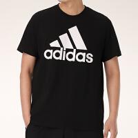 【满199减20,满399减40】幸运叶子 阿迪达斯短袖T恤男2021新款大logo圆领运动服半袖体恤GK9120