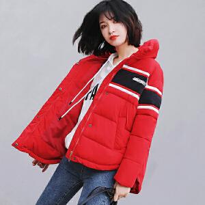 纤纯伊新款韩版面包服男女情侣棉服女短款棒球服