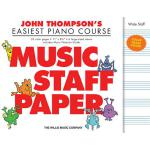 【预订】John Thompson's Easiest Piano Course - Music Staff Pape