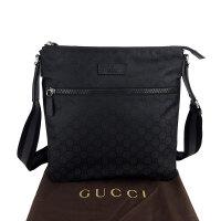 Gucci 黑色丝光棉GG印花男士单肩包 449185